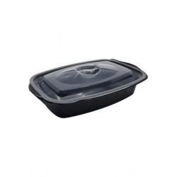 Bir Bölmeli Mikrodalga Gıda Kabı Kap+Kapak 100'Lü